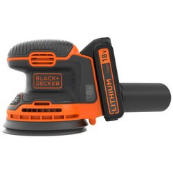 Black and Decker - 18V Lithiumion Cordless Random Orbital Sander with battery - BDCROS18