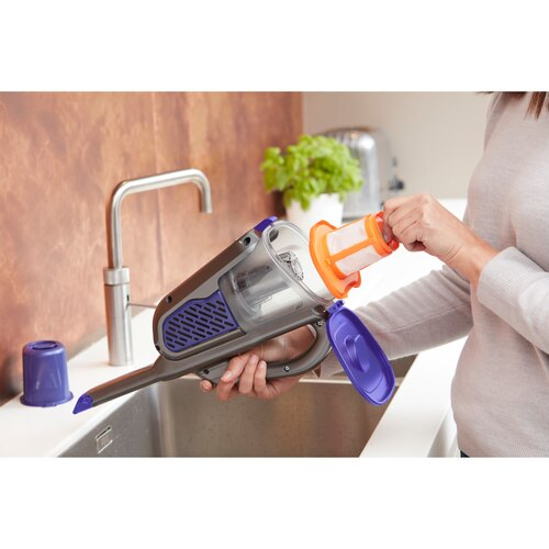 Black and Decker - 36Wh Liion Dustbuster Hand Vac with Charging Base and Pet Extension - BHHV520BFP