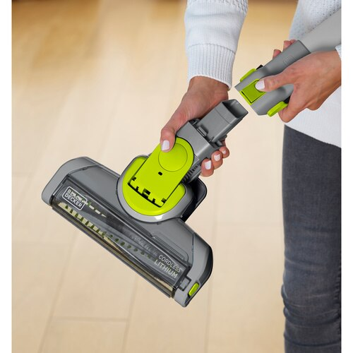 Black and Decker - 36Wh 2in1 HEPA Cordless dustbuster Hand Vacuum with Floor Extension - FEJ520JFH