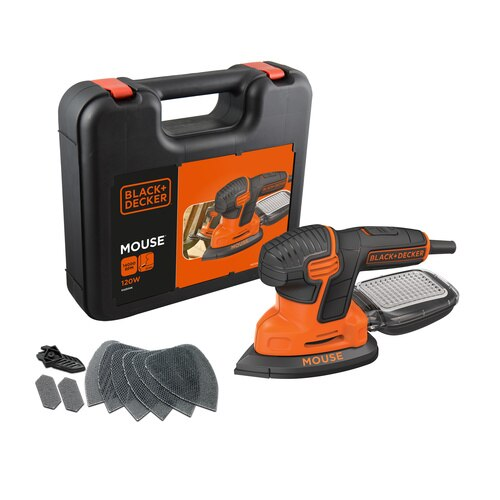 Black and Decker - 120W Next Generation Mouse Sander with Kitbox and 9 Accessories - KA2500K